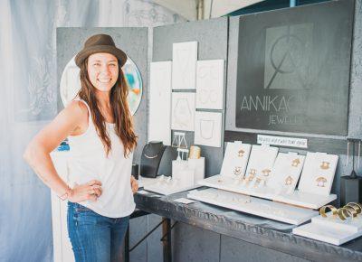Annika Q. N. Dimeo of Annika Quinn Jewelry was cheery and enjoying the crowds. Photo: @clancycoop