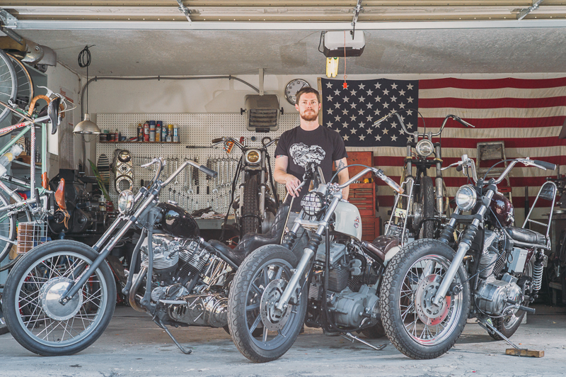 Regatta Garage's Greg Hebard crafts each motorcycle build as a one-of-a-kind piece, often with hardware he makes himself.