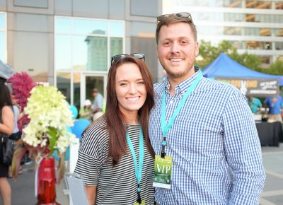 (L–R) Alicia and Jordan Reinheimer moved from Dallas last winter and have wanted to attend Craft Lake City since they first saw the signs and ads promoting the festival. Photo: John Barkiple