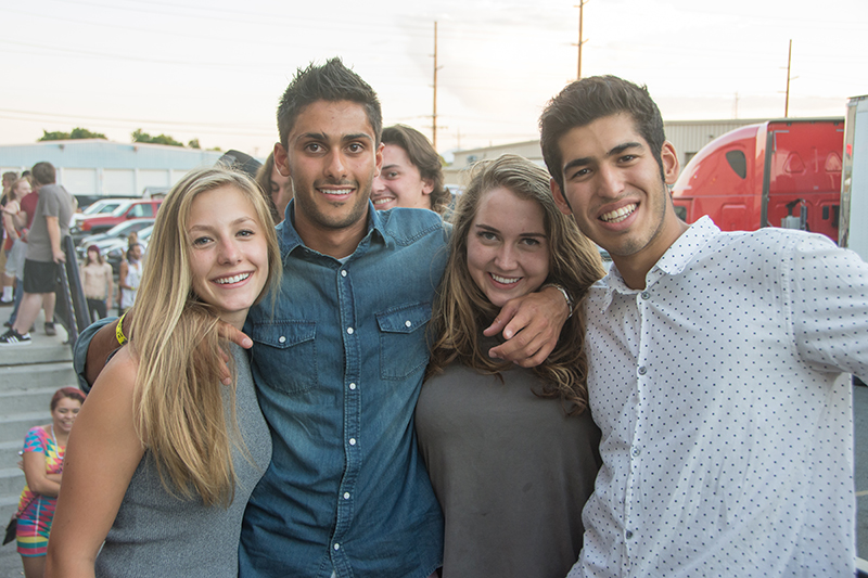 Elizabeth, John, Jessica and Ameen share some laughs Tuesday night at The Complex. Photo: Colton Marsala
