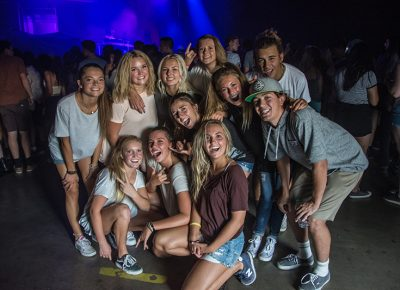 Stoked fans get ready for Flume's first appearance in SLC. Photo: Colton Marsala