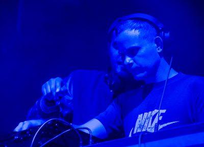 DJ Tyler Blake of Classixx takes some advice from partner Michael David. Photo: Colton Marsala