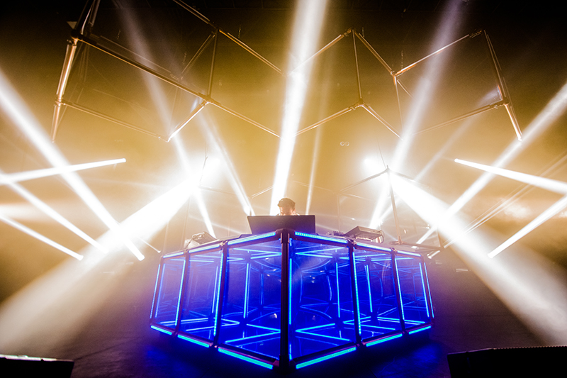 "Flume shows off his new stage production, the ""Infinite Cube."" Photo: Colton Marsala"
