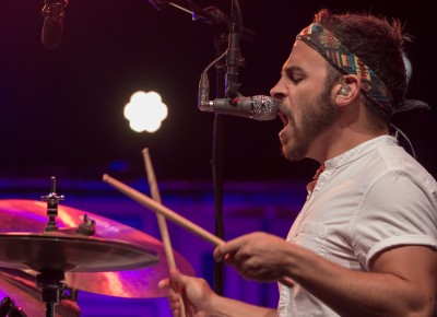 "Mike Calabrese played drums and sang backing vocals for Lake Street Dive's ""Stop Your Crying."" Photo: John Barkiple"