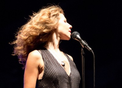 An instrumentless Rachael Price took the lead on vocals for Lake Street Dive at Red Butte Garden. Photo: John Barkiple