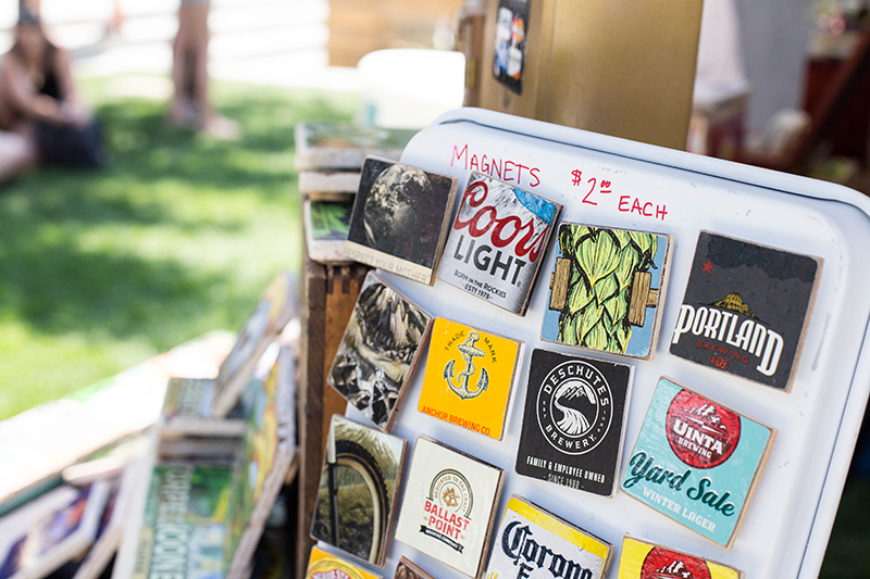 Creative and fun magnets made from all recycled materials for sale from Second Hand Coast. Photo: @LMSorenson