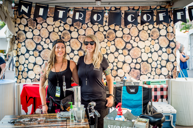 Sisters Heather and Alysia at City Grounds Coffee kept the crowds caffeinated. Photo: @nellis_j