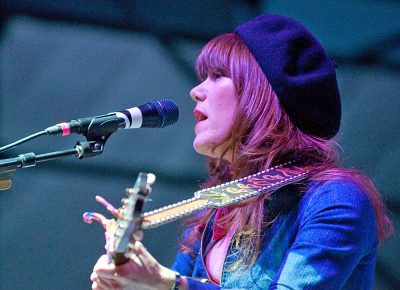 Jenny Lewis during a softer moment. Photo: Scott Frederick