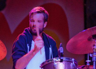 Jenny Lewis' drummer gets intense. Photo: Scott Frederick