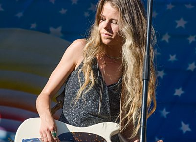 McKenna Petty, bassist for The Aces, warms up the crowd for Jenny Lewis. Photo: Scott Frederick
