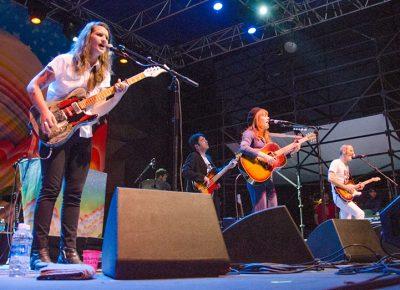 Megan McCormick and Jenny Lewis rock SLC. Photo: Scott Frederick