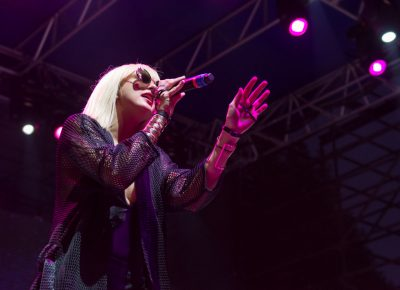 Phantogram's Sarah Barthel charms the crowd with her lilting vocals. Photo: Colton Marsala