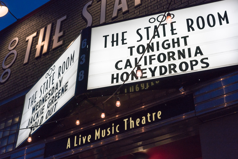 The marquee at The State Room on Monday Night. Photo: JoSavagePhotography.com