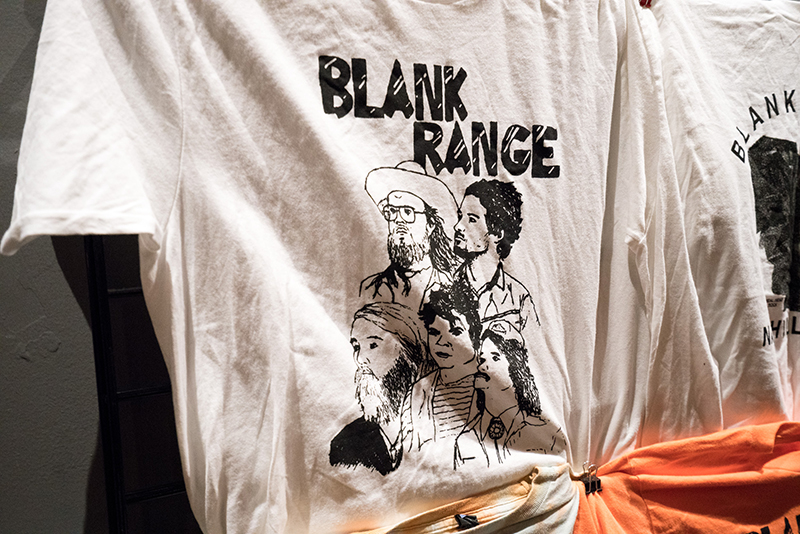 Blank Range T-shirt for sale at the merch booth. A close-up of what the guys look like at their very best. Photo: JoSavagePhotography.com