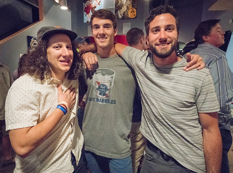 Jim Katsilometes celebrated his birthday with pal Will Cleary and his brother, Orie. Photo: JoSavagePhotography.com