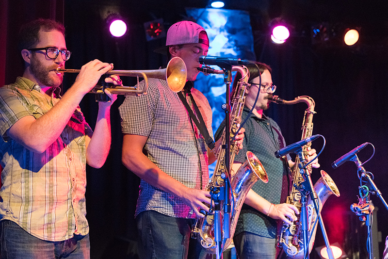 The groovy brass section. Photo: JoSavagePhotography.com