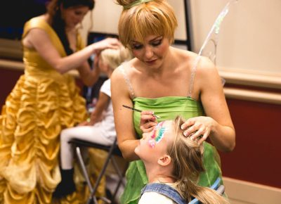 Kids are totally entertained at KidCon, with face painting and other such activities. Photo: @Lmsorenson
