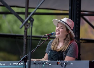 Playing keyboards for the National Parks is Sydney Macfarlane. Photo: @Lmsorenson