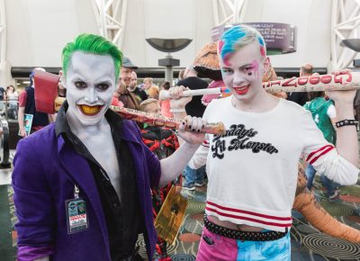 Cove Owens and Porter Lunceford make a terrific pair as the Suicide Squad movie's Joker and Harley Quinn at Salt Lake Comic Con. Photo: @Lmsorenson