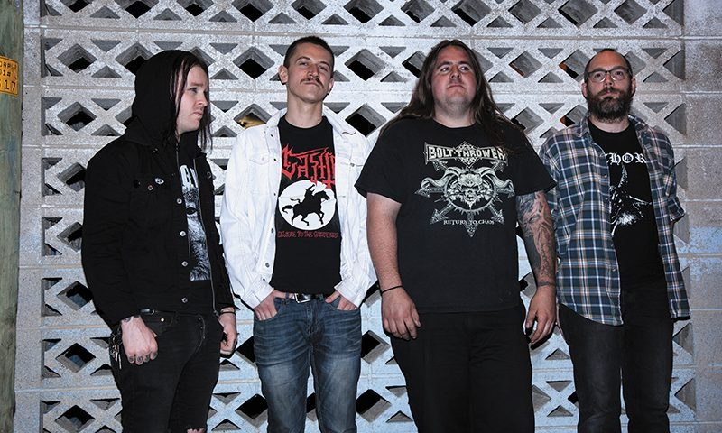 (L–R) Together, Rich Evans, Kyle Smith, Evan Dahl and Ross Hagen of Burn Your World craft a grimacing, grinding and blackened deathcrust.