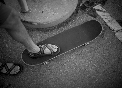 Brian Berec skated all day in Chacos. Photo: Sam Milianta