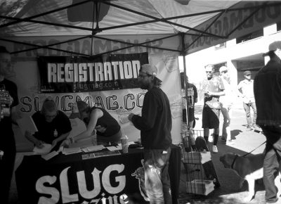 Registration for the contest. Pictured: Caleb Orton. Photo: Sam Milianta