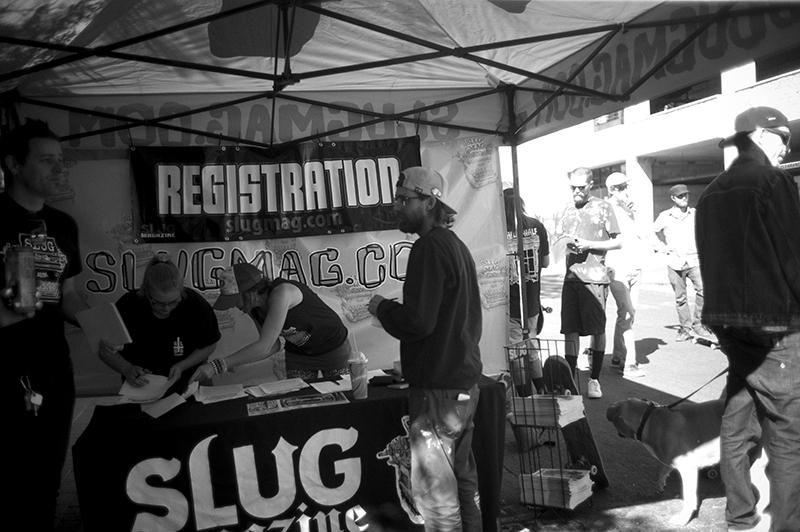 Registration for the contest. Pictured: Caleb Orton. Photo: Sam Milianta