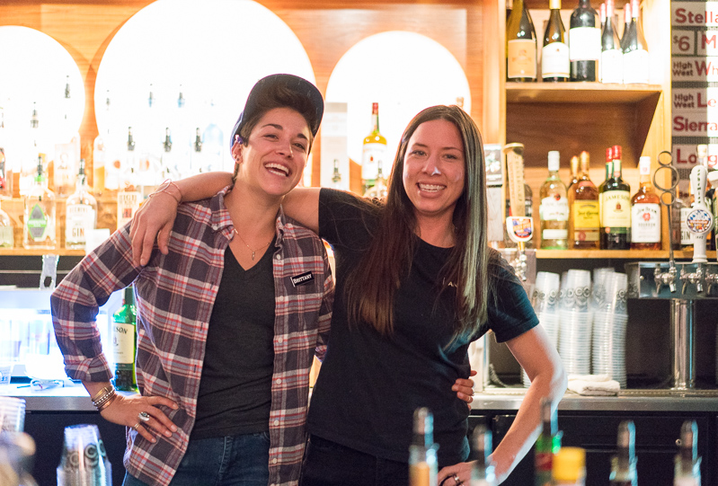 Brittany and Annika, friendly bartenders at the State Room, were pouring it down. Photo: JoSavagePhotography.com
