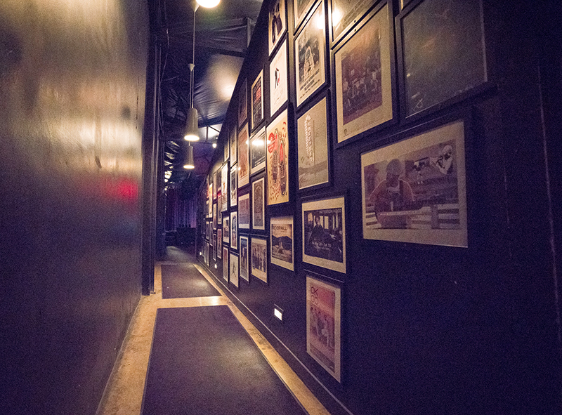 Some people might call this a hallway, but I call it a corridor. It leads to the stage and is filled with past State Room show posters. Photo: JoSavagePhotography.com