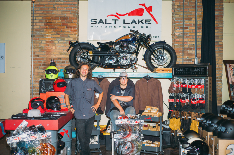 Salt Lake Motorcycle Co. was on hand with a bountiful display of helmets and accessories. Photo: @clancycoop