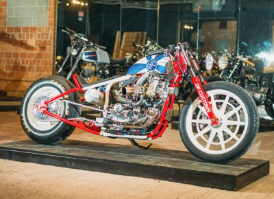 A 1979 Harley-Davidson Ironed built by DP Customs. Photo: @clancycoop