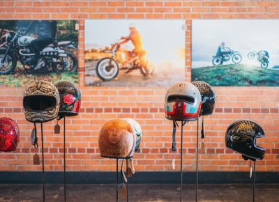 Artists and photographers were featured near the entrance, with painted helmets and giant prints for sale. Photo: @clancycoop