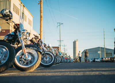 There were just as many bikes outside the show as within, and attendees could peruse the parking lot and see amazing builds as well. Photo: @clancycoop