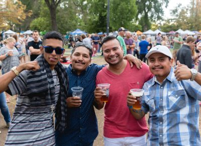 Jose, Hector, Edguardo and Esau are having a great time at Twilight Concert Series. Photo: @Lmsorenson