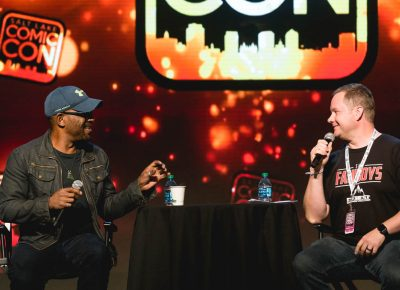 The Walking Dead star Lennie James shares his stories of stage acting during Salt Lake Comic Con. Photo: @Lmsorenson