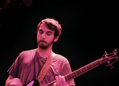 Chris Goggans, Bassist for Mothers, onstage at Urban Lounge. Photo: Logan Sorenson @Lmsorenson