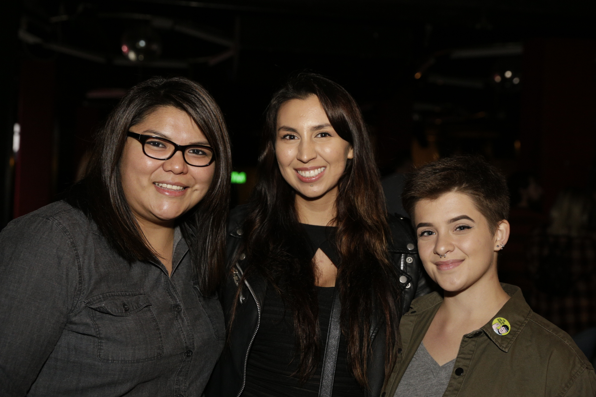 Lauren Bronch, Cora Burchett and Amanda Francom having a night out to see Tegan and Sara. Photo: @Lmsorenson