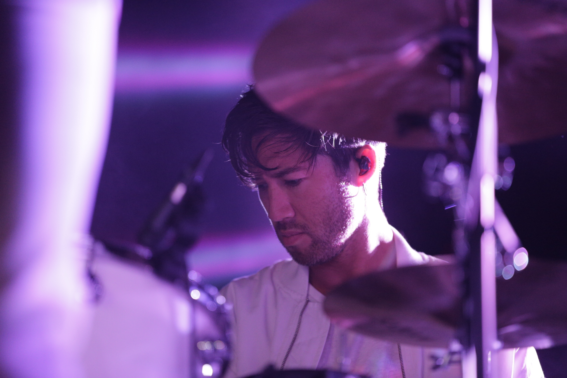 Drummer for Tegan and Sara, playing in Salt Lake City. Photo: @Lmsorenson