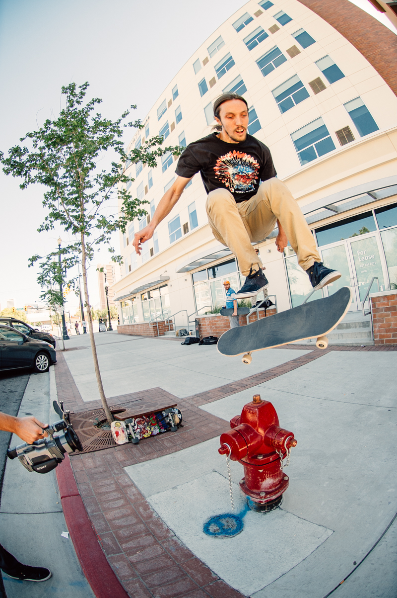 Fergie kickflips the hydrant with ease. Photo: Niels Jensen
