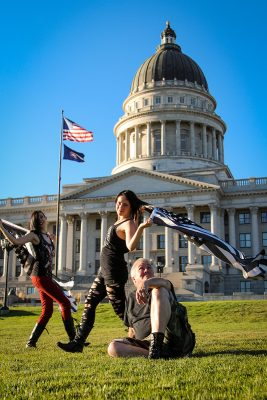 """Chalice Blythe, chapter head of The Satanic Temple, says, """"I think the Satanic culture, in general, brings in a multitude of different personalities,"""" locally including cosplayers, metalheads, housewives, politicians, hippies, and heathens."""