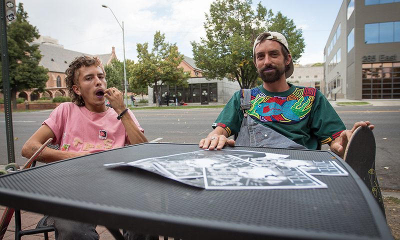 """(L-R) With the help of local skaters like Joey Sandoval with """"Issue #1,"""" Willy Nevins has embarked on his new zine, """"Street Buds."""""""