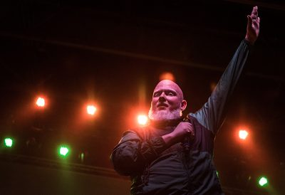 The Salt Lake City crowd gives Brother Ali praise as he walks onto the stage. Photo: ColtonMarsalaPhotography.com