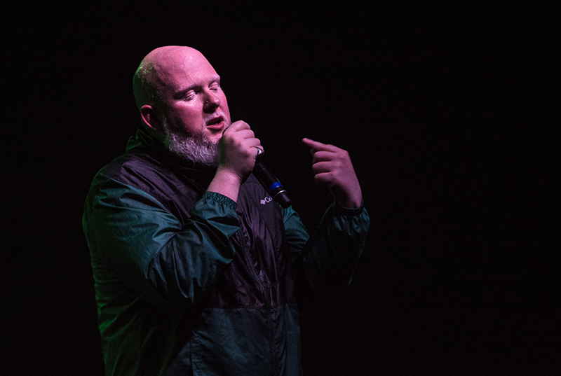 Brother Ali preaches his masterful lyrics. Photo: ColtonMarsalaPhotography.com