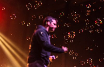 Bubbles filled the room as Atmosphere walked onto the stage. Photo: ColtonMarsalaPhotography.com