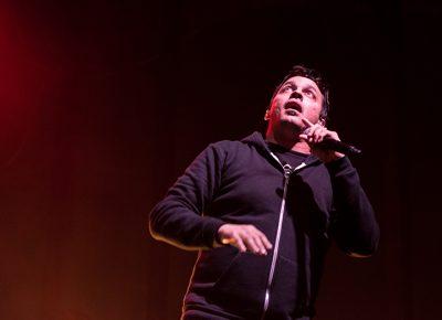 "Slug enthralls concertgoers during ""Puppets."" Photo: ColtonMarsalaPhotography.com"