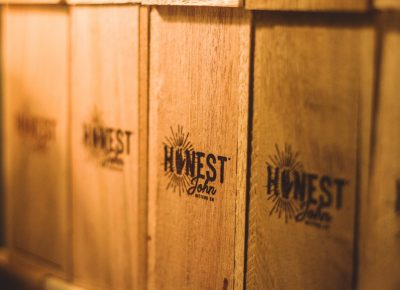 The laser-engraved gift box from Honest John makes its appearance just in time for the holiday season. Photo: Talyn Sherer