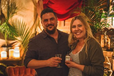 (L–R) The creative geniuses behind Honest John Bitters Co., Brandon Cagle and Sara Lund. Photo: Talyn Sherer