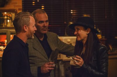 Conversations were a-plenty during Saturday night's launch event at The Mandate Press. Photo: Talyn Sherer