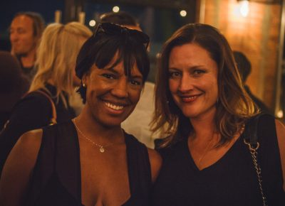 (L–R) Chantelle Bourdex of Slow Foods Utah poses with Amber Oothoudt. Photo: Talyn Sherer