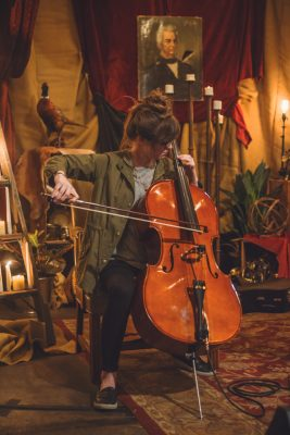 Ciera Black from Book on Tapeworm puts us all at ease with her symphonic cello performance. Photo: Talyn Sherer